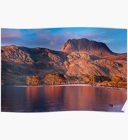 Slioch from Loch Maree, Scotland. Poster