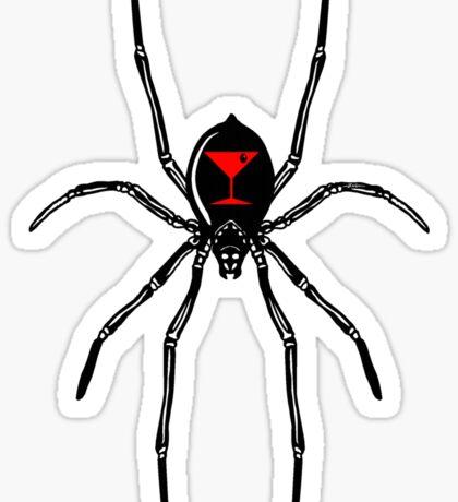 Black Widow Martini Sticker
