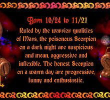 Valxart gothic Scorpio zodiac Born 10/24 to 11/21 1 and Ruled by the warrior qualities of Mars by Valxart