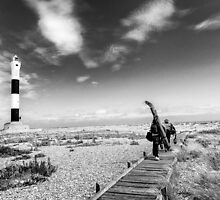 A surreal landscape at Dungeness by eyeone