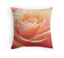 Peach Beauty Throw Pillow