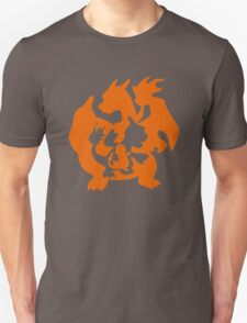 Pokemon Evolution Silhoutte  T-Shirt