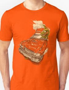 Dinosaur on a Cadillac Unisex T-Shirt