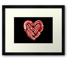 Bacon Heart Framed Print