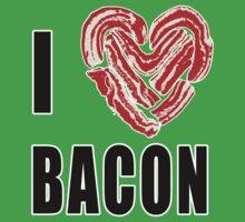 I Love Bacon One Piece - Short Sleeve