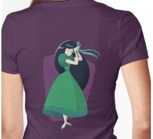 Green Dress Womens Fitted T-Shirt