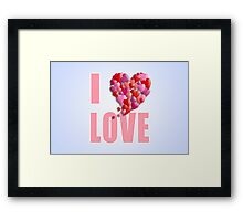 I Heartily Heart Love Framed Print