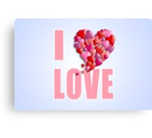 I Heartily Heart Love Canvas Print