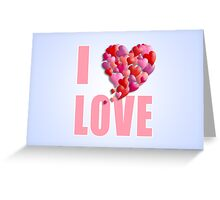 I Heartily Heart Love Greeting Card
