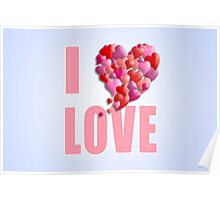 I Heartily Heart Love Poster