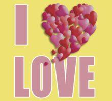 I Heartily Heart Love One Piece - Short Sleeve