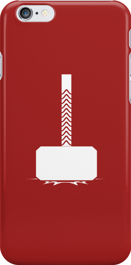 Thunder's Hammer | Red Case by wolvenhalo