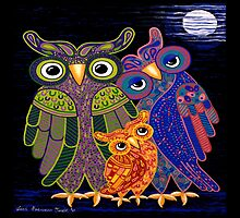 Owl I Want Is You (Square Version) by Lisa Frances Judd~QuirkyHappyArt