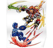 Megaman VS Eggman Poster