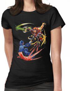 Megaman VS Eggman Womens Fitted T-Shirt
