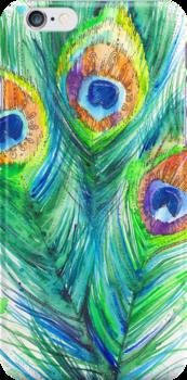 Peacock feather by Slaveika Aladjova
