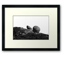 Boulders Under A Perfect Sky Framed Print