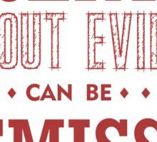 Hitchens' Razor Light Ts Sticker