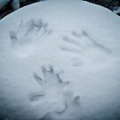 Handprints in the Snow by Lee Jones