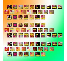 A-Z animals keyboard Photographic Print