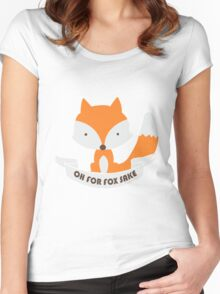 Oh For Fox Sake Girls funny nerd geek geeky Women's Fitted Scoop T-Shirt