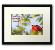 Make your own Cardinal rules and learn from them. Framed Print