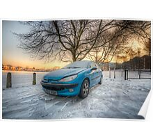 Frosty Peugeot Poster