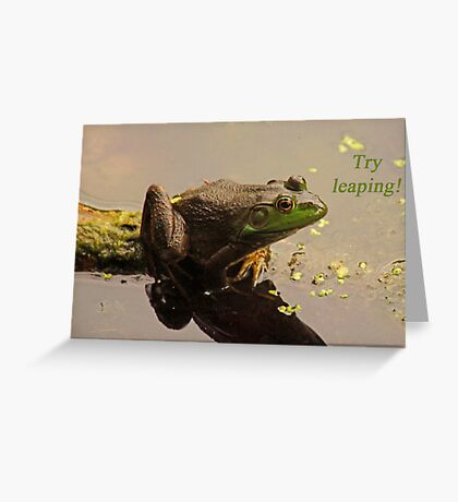 Try Leaping Greeting Card