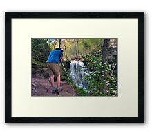 Nature Photographer & Subject Framed Print