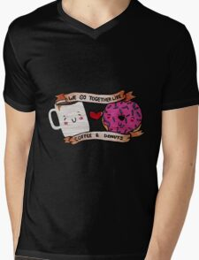 We go together like Coffee and Donuts Mens V-Neck T-Shirt
