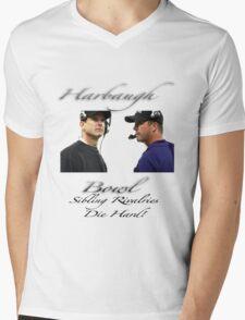 Harbaugh Bowl-Sibling Rivalries Die Hard Mens V-Neck T-Shirt
