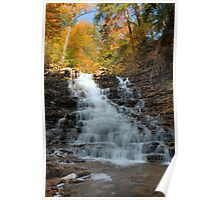 Fall Colors Crowning F. L. Ricketts Falls Poster