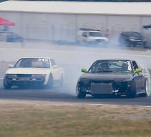 Tandem Drifting - Winton Racetrack by mcrow5