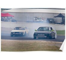 Tandem Drifting - Winton Racetrack Poster