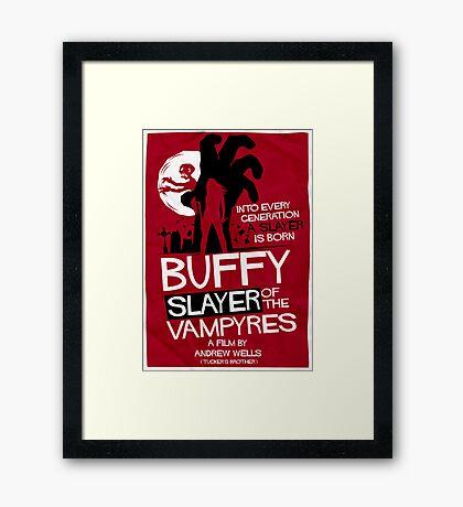 Slayer of the Vampyres Framed Print