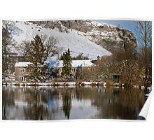 Kilnsey Crag in the snow Poster