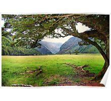 Matukituki Valley, NZ Poster