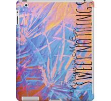 SWEET NOTHINGSBeautiful Midnight Valentine Florals, Eggplant Lilac Pink Modern Abstract iPad Case/Skin
