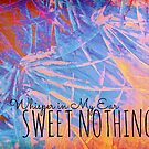 SWEET NOTHINGSBeautiful Midnight Valentine Florals, Eggplant Lilac Pink Modern Abstract by EbiEmporium