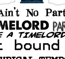 Time Lord Party Sticker