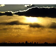 Sunset silhouette, NYC Photographic Print