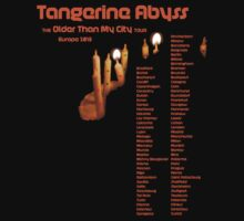 Fake Band Tee #2: Tangerine Abyss (Europe Tour) by AlanahC