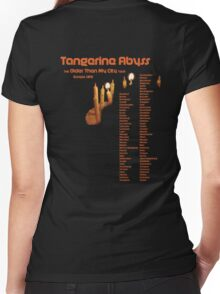 Fake Band Tee #2: Tangerine Abyss (Europe Tour) Women's Fitted V-Neck T-Shirt