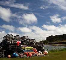 Lobster Pots - waiting for the next trip. by DavidCH