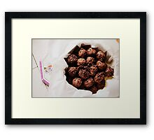 chocolate cookies Framed Print
