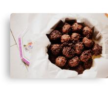 chocolate cookies Canvas Print