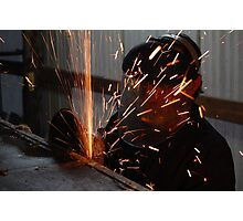 A working mans fire works Photographic Print