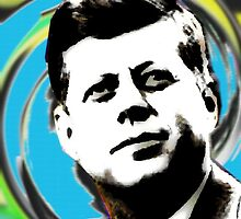 JFK (POP-ART) by OTIS PORRITT