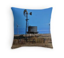 Old & The New - Wind Towers Throw Pillow