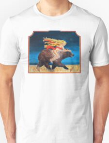 Naked Chick Riding a Bear Unisex T-Shirt